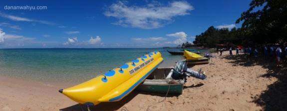 tersedia fasilitas banana boat