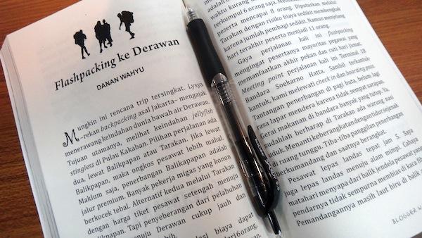Flashpacking ke Derawan menjadi salah satu kisah di Blogger Walking