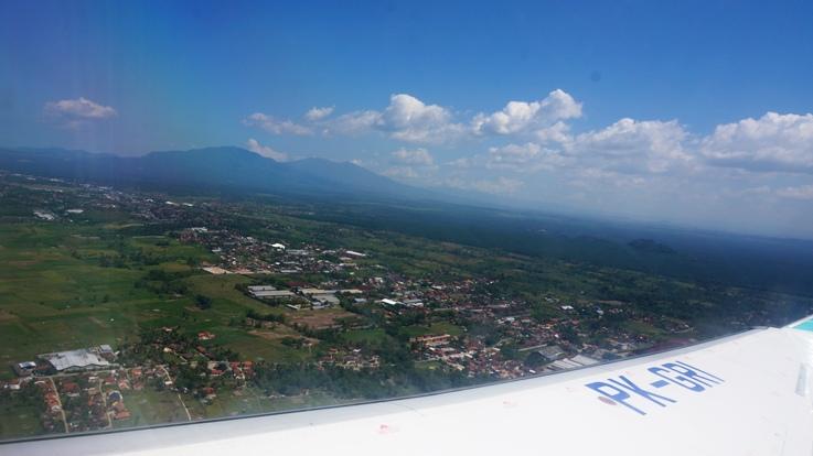 penampakan Natar (kampung halaman) dari atas pesawat