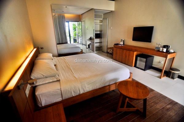 kamar Tirta  terkesan lebih lebih modern di bandingkan Riani