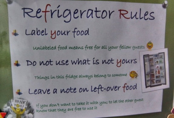 peraturan meletakan makanan di kulkas
