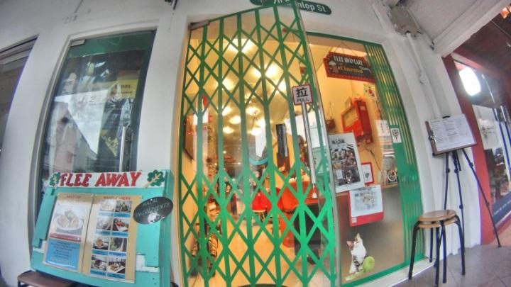 Flee Away Cafe di Jalan Dunlop 70, Little India