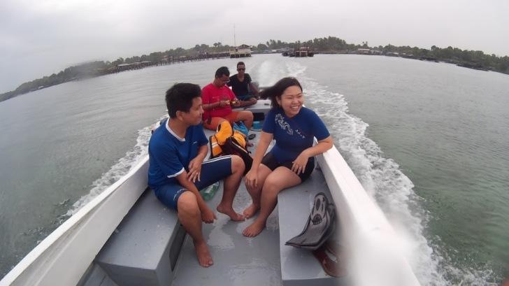 menuju pulau Beralas Pasir
