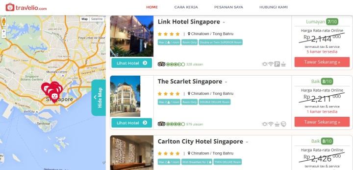 plihan jatuh ke Hotel Scarlet di China Town