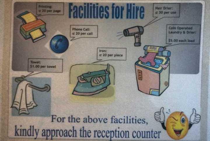 beberapa fasilitas berbayar