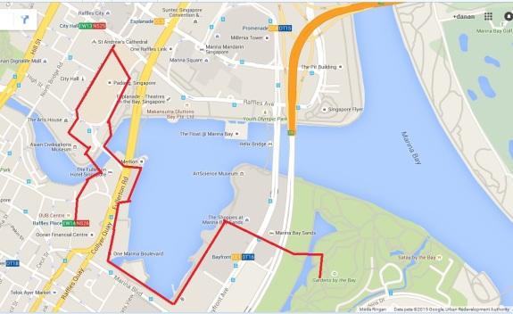 jalur narsis Singapura - siapkan kaki untuk menjalaninya