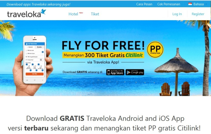 Promo Fly For Free - Dapatkan Tiket PP Citilink