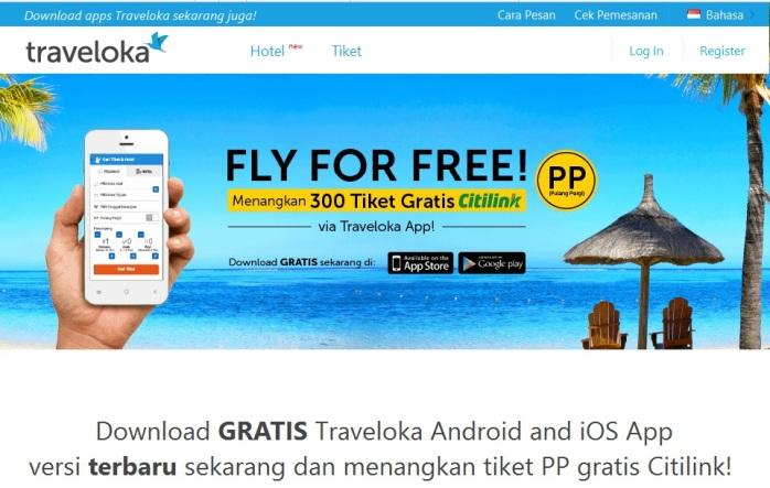 Promo Fly For Free - Dapatkan Tiket PP Citilink