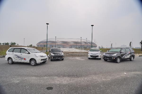 Tebalnya kabut asap di Stadion Utama Riau