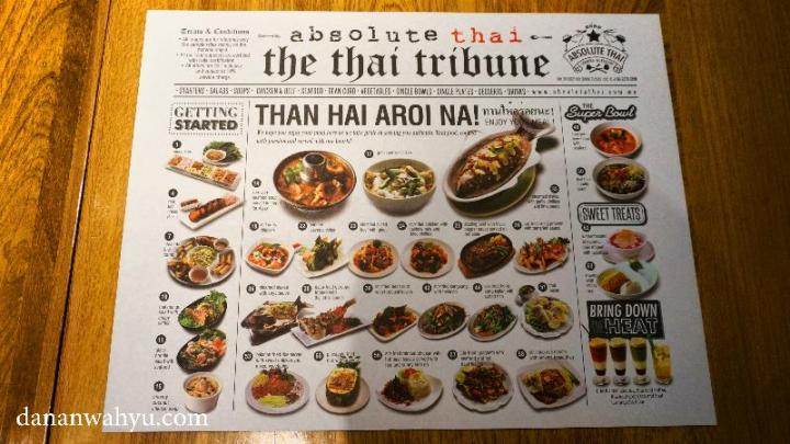 Menu di Absolute Thai