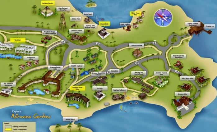 Peta Nirwana Gardens, Lagoi - Pulau Bintan