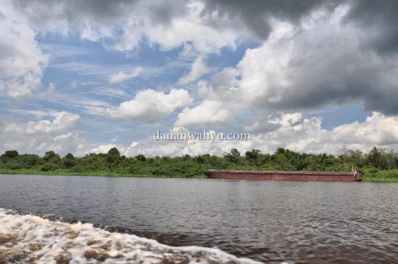 pemandangan di Sungai Kampar