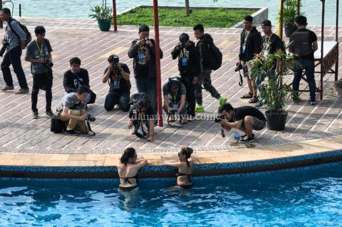 sesi hunting bersama kontes foto