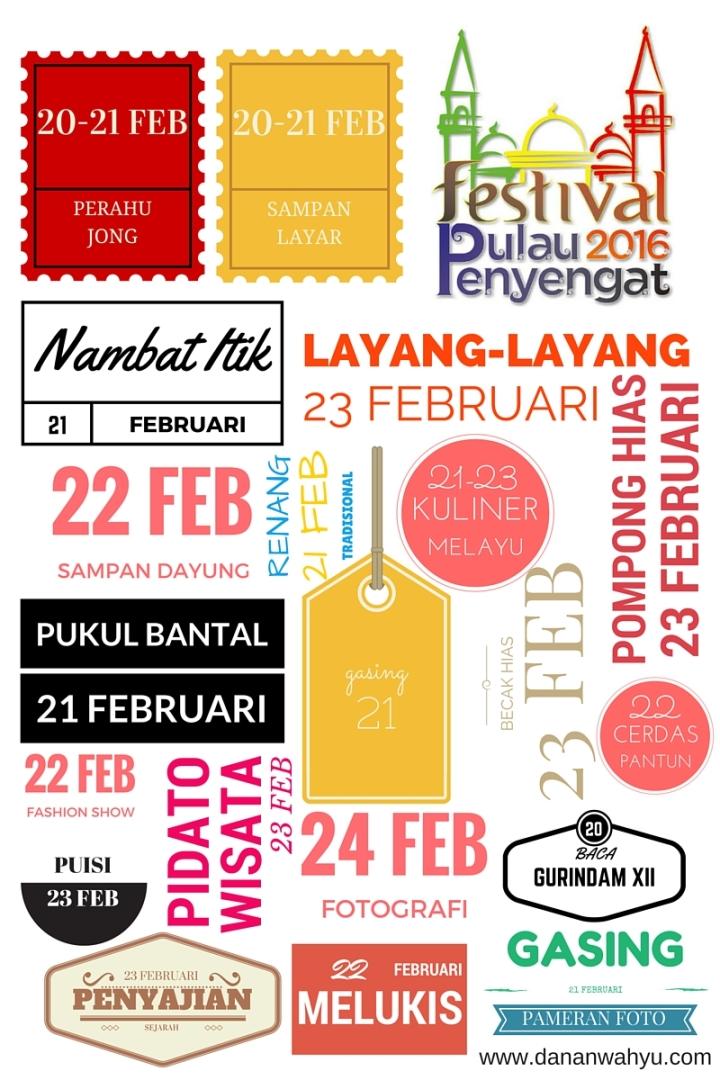 Kegiatan Festival Pulau Penyengat 2016 (jadwal dapat berubah)