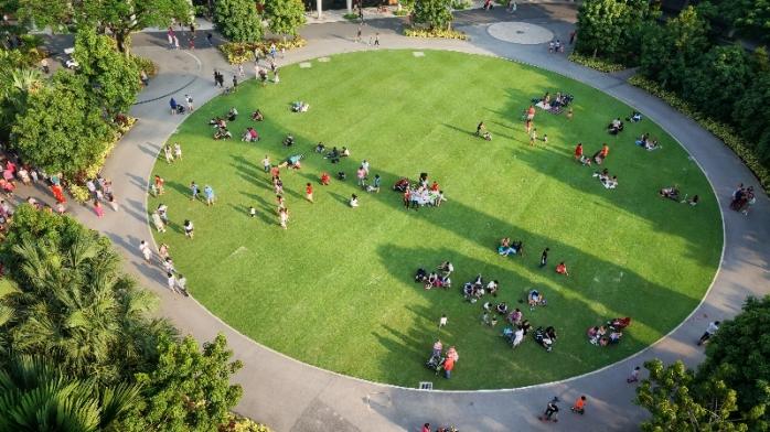 ruang publik gratis tersebar di SIngapura