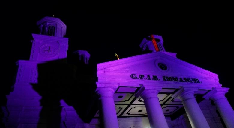 Gereja Mbeleduk tempat berlangsungnya Semarang Night Carnival 2016