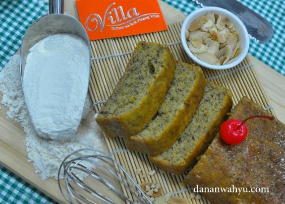 kek villa pisang menggunakan bahan bahan terbaik