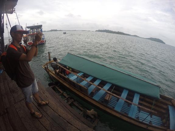 pelabuhan PT. Pari - titik keberangkatan pompong
