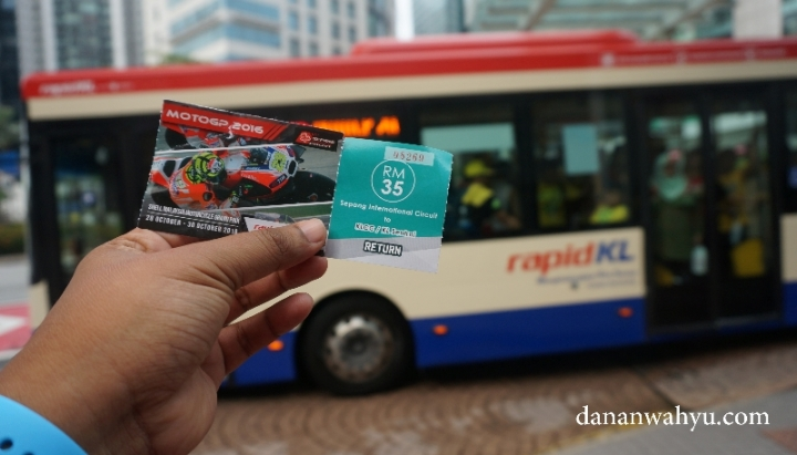 tiket bis KL Sentral - Sepang pulang pergi 35 RM