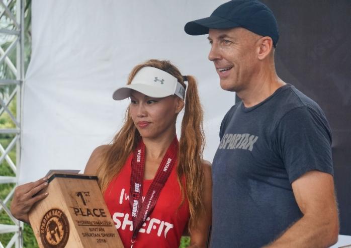 Pemenang wanita Sparta Sprint