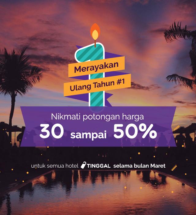 ulang tahun tinggal.com diskon 30-50%