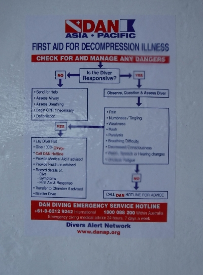 Petunjuk P3K sakit dekompresi akibat menyelam