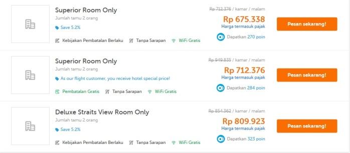Memesan kamar di Thistle Hotel Johor Bahru