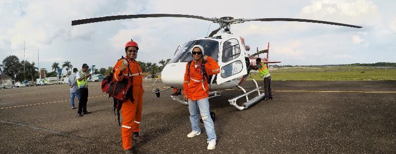 naik helikopter yuk
