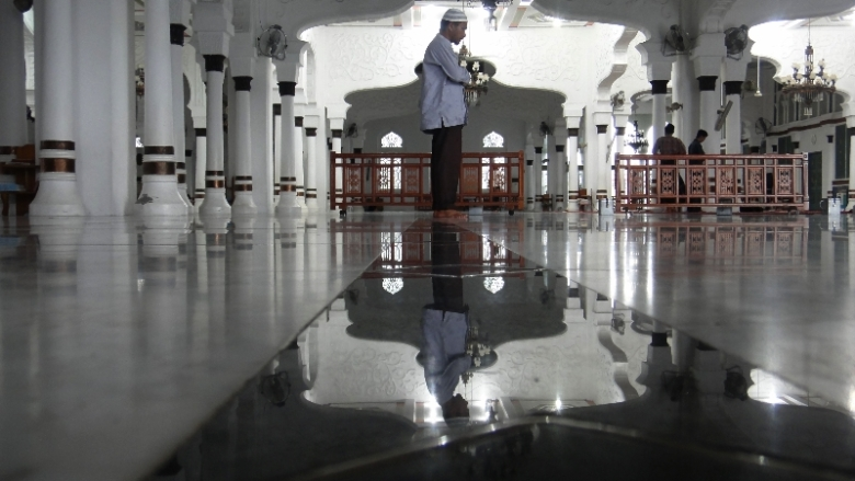 Bagian dalam Masjid Raya Baiturrahman
