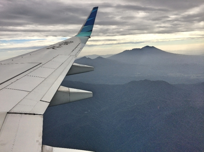 Bukit barisan dari saat penerbangan ke Bengkulu