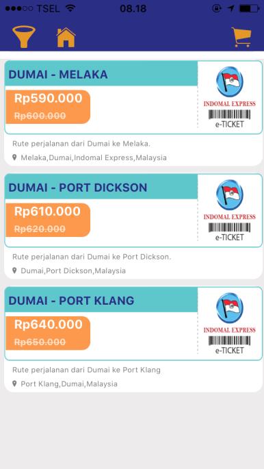 Dumai ke Malaysia juga hadir di MarlinBooking