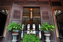 Partisi kayu asli Mansion Tjong A Fie Medan