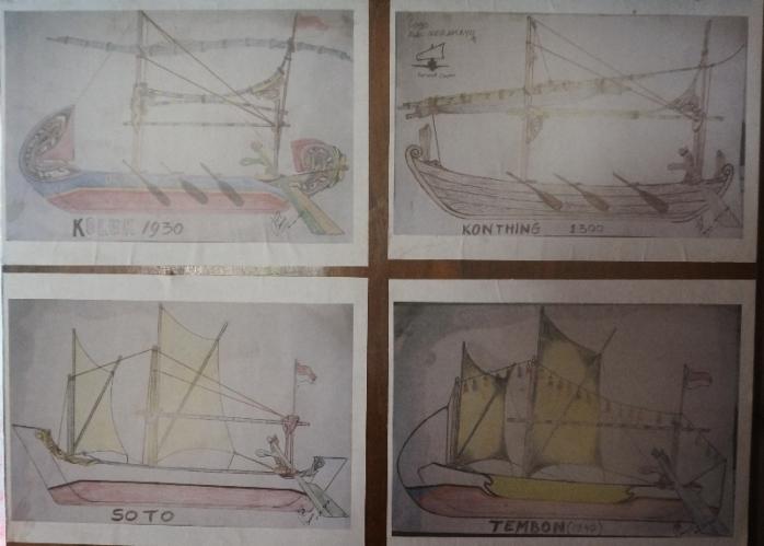 Berbagai model kapal kerajinan kayu mangrove