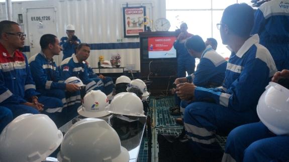 Safet brief di porta camp sumur minyak Jatibarang