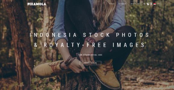 Pixamola jualan foto di Indonesia
