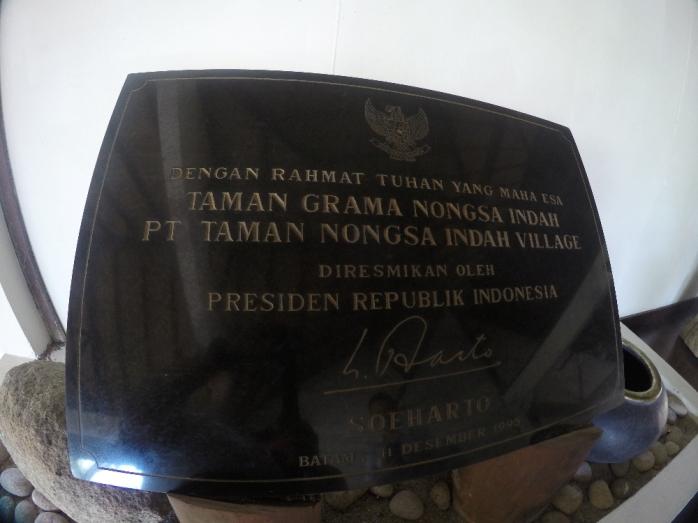 Diresmikan oleh Presiden Soeharto