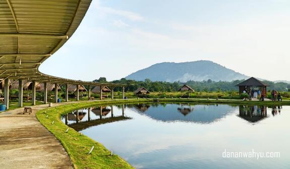 Pemandangan gunung Bintan di Poyotomo