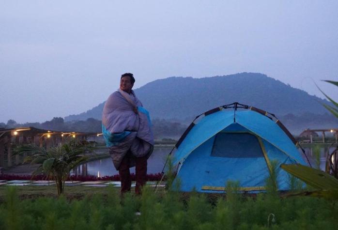 Menikmati pagi di Taman Pemancingan Poyotomo