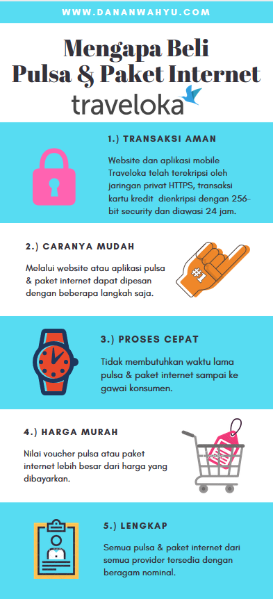 Alasan membeli pulsa & paket internet di Traveloka.