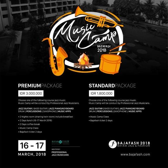 Paket Musik Camp Bajafash 2018 - Batam View Resort Nongsa