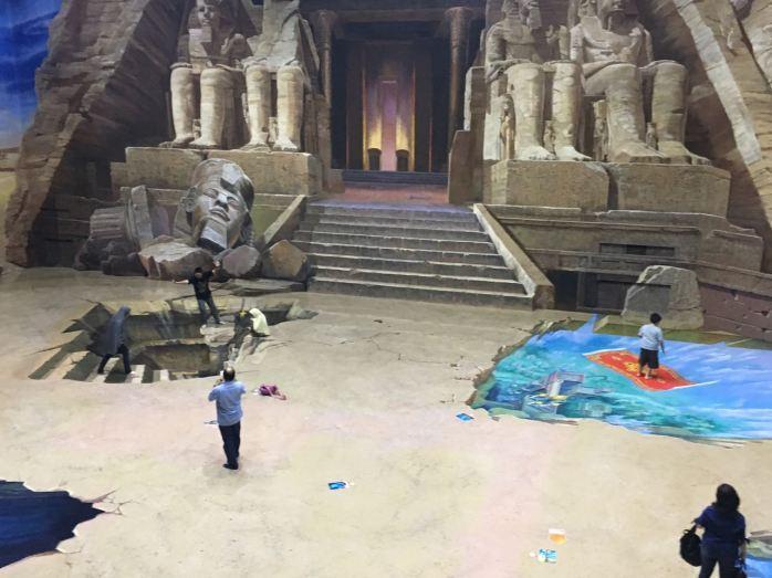 Museum 3D di sini besar banget serasa di studio pembuatan film.