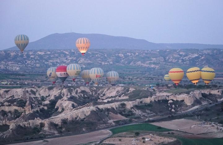 Suasana pagi di Cappadocia Turki