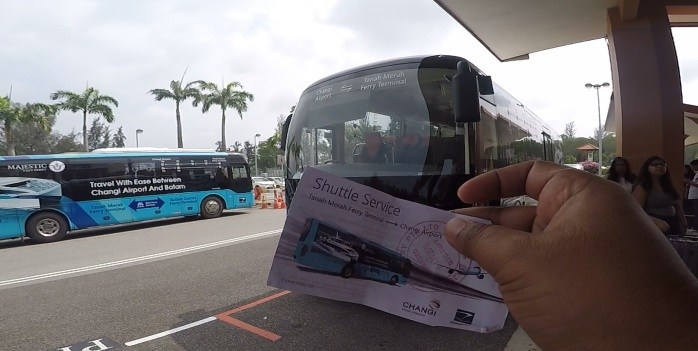 Kemarin ada promo beli tiket feri dapat free shutlle bus ke bandara dari pelabuhan Tanah Merah