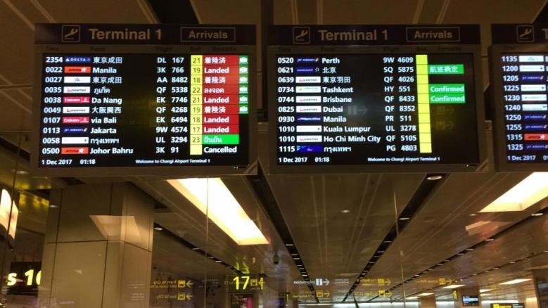 Perhatikan jadwal keberangkatan, terminal dan gate sesuaikan juga dengan waktu di Indonesia
