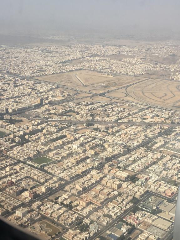 pemandangan kota Jeddah dari atas