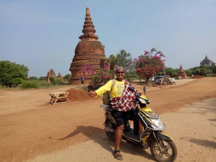 Sewa motor listrik di Bagan sehari 100 ribu rupiah