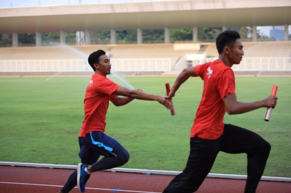 Bakal seru nih estafet dari satu venue ke venue lain mengejar partandingan olahraga favorit