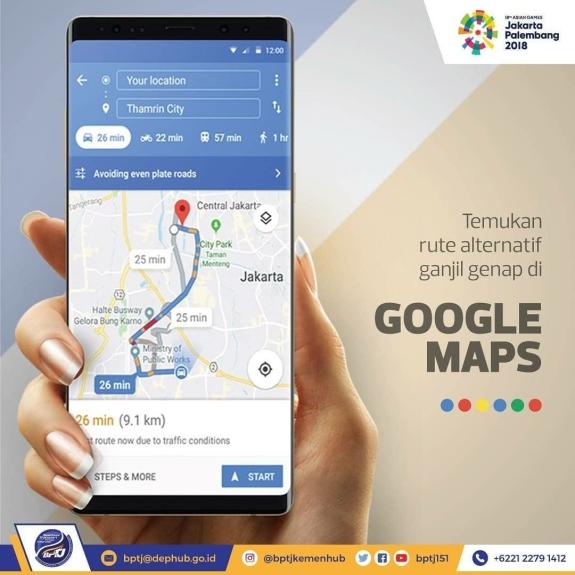 Gunakan google map untuk merencanakan dan memantau rute perjalanan anda