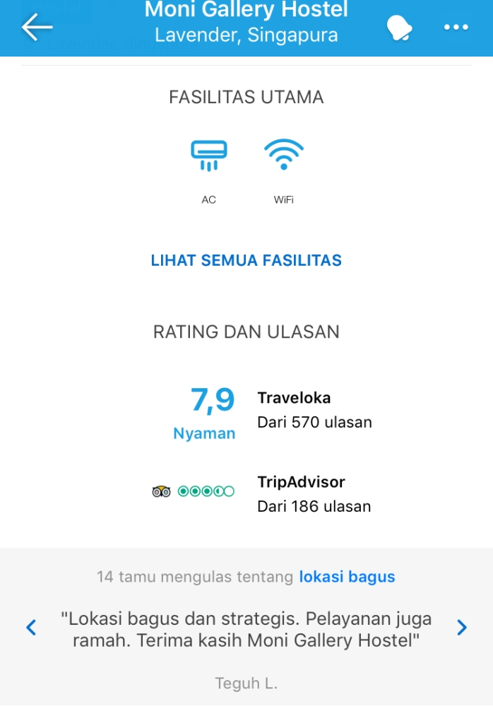 Rating 7,9 di Traveloka, bagus kan?