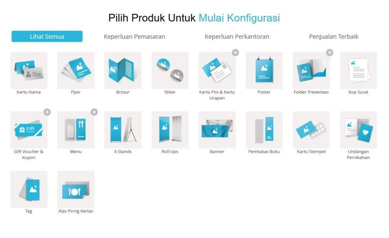 Gogoprint tidak hanya menyediakan jasa pencetakan kartu nama tapi juga produk lainnya.